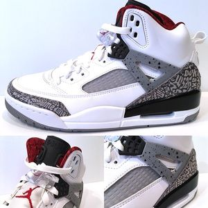 new style a32ad 04e64 Jordan Shoes - Men s Air Jordan Spizike OG White Cement Grey New